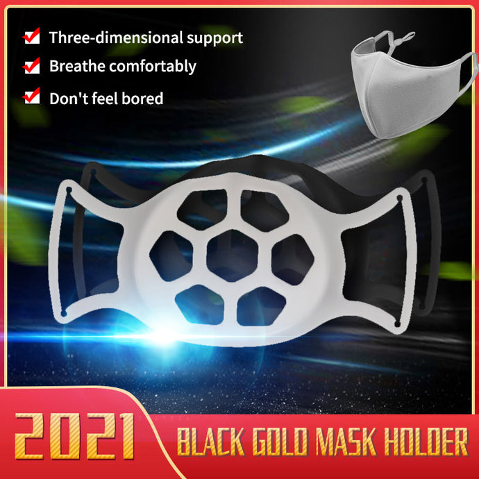 2021 Black Gold Softer Anti-fogging Wearable Mask Bracket