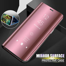 Load image into Gallery viewer, Mirror Flip Case Slim Clear View Smart Cover For Samsung