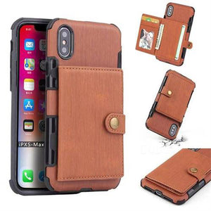 Security Copper Button Protective Case For iPhone Xs Max