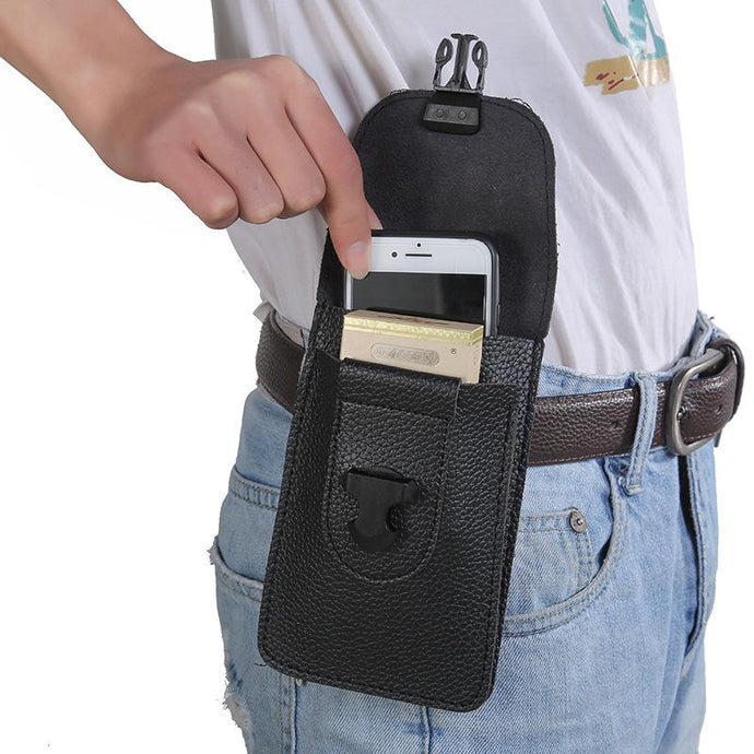 2020 outdoor sports universal multifunctional leather case wallet mobile phone bag