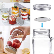Load image into Gallery viewer, Regular Mouth Mason Jar Split-Type Lids and Bands (70mm)