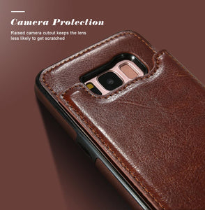 4 IN 1 Luxury Wallet Leather Case For SAMSUNG GALAXY