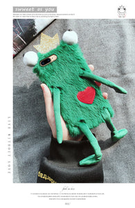 Frogs Furry Cases Phone Case for iPhone