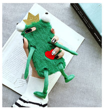 Load image into Gallery viewer, Frogs Furry Cases Phone Case for iPhone