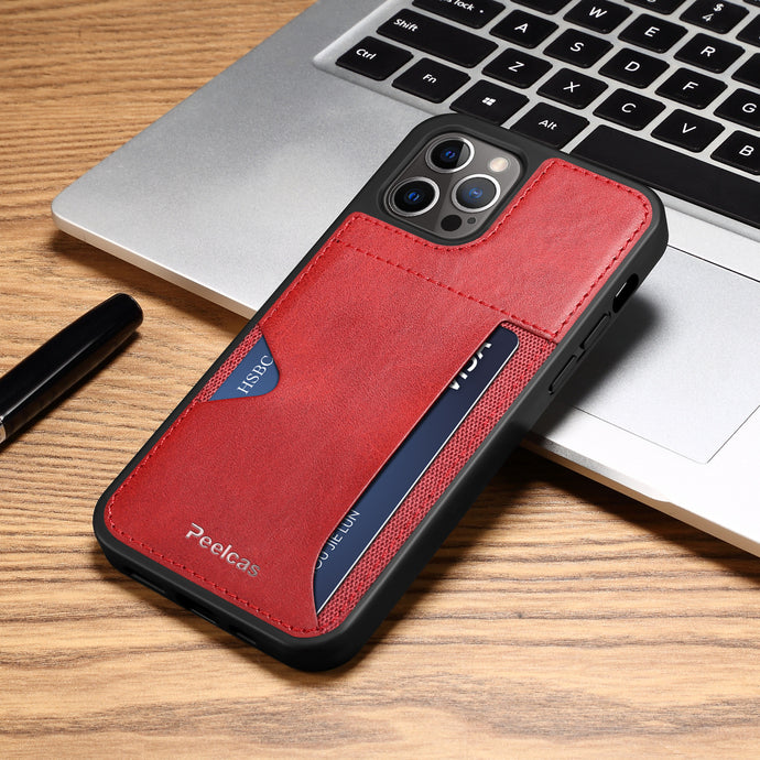 Ultra-thin leather card slot iPhone case