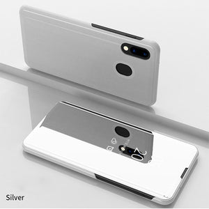 Luxury Mirror Flip Smart Cover For Samsung