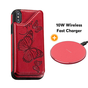 New Luxury Embossing Wallet Cover For iPhone X/Xs-Fast Delivery