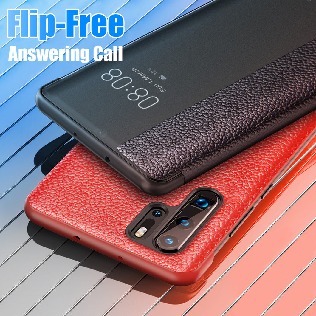 Luxury Smart View Flip Leather Case for Huawei