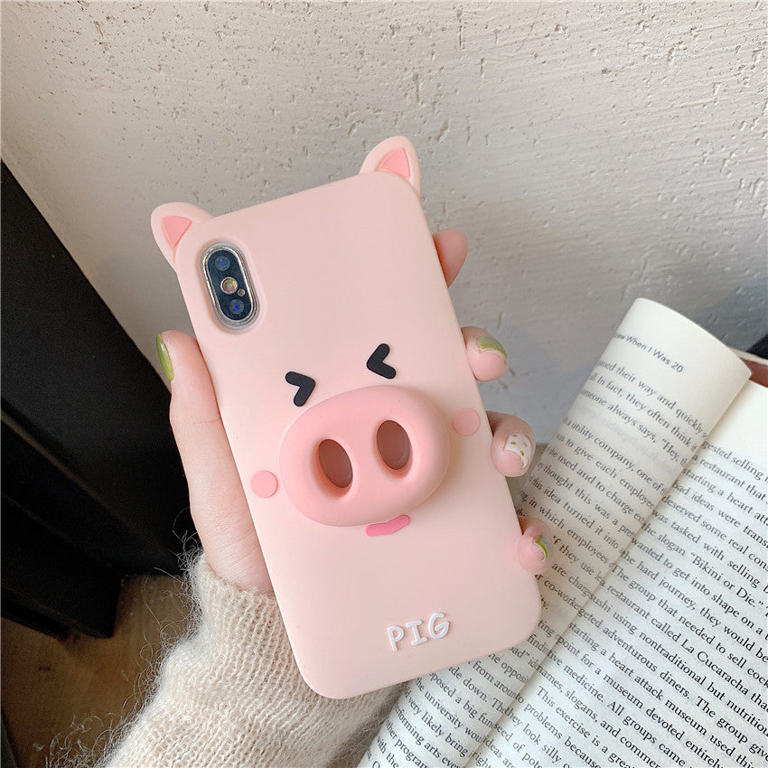 Cute Pig&Frog All-In-One Phone Case