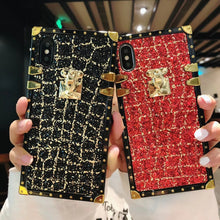 Load image into Gallery viewer, Fashion Glitter Lattice Phone Case