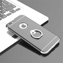 Load image into Gallery viewer, Ultra Thin Electroplating Splicing PC + Inbuilt Metal Ring Kickstand Back Cover