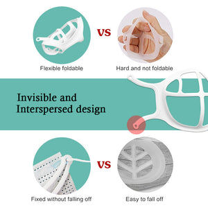 2021 Lighter And More Skin-friendly Silicone 3D Mask Bracket