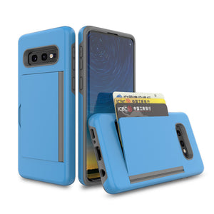 Armor Protective Card Holder Case for Samsung S10E