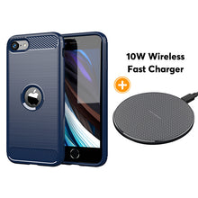 Load image into Gallery viewer, Luxury Carbon Fiber Case For iPhone SE2020