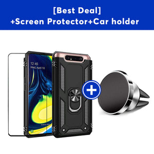 Luxury Armor Ring Bracket Phone Case For Samsung A80-Fast Delivery