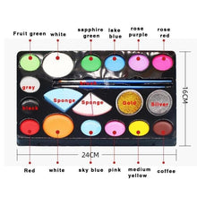 Load image into Gallery viewer, 2020 Halloween 14 Color Makeup Oil Paint Set For Children or Adults