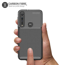 Load image into Gallery viewer, Carbon Fiber TPU Ultra Slim Fibre Case For Moto