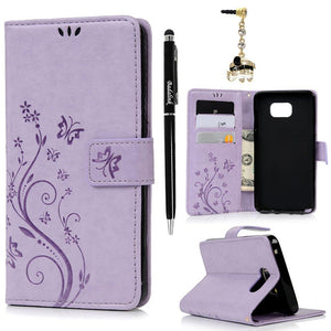 NEW Luxury Embossed Wallet Phone Case For Samsung A20&A30 Series