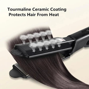 Last Day Promotion-50% OFF-Professional Ceramic Steam Hair Straightener