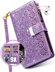 Glitter Sparkly Girly Bling Leather Flip Cover For Samsung S Series