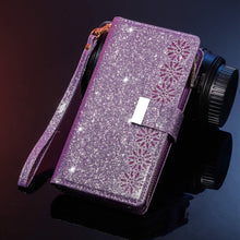 Load image into Gallery viewer, Glitter Sparkly Girly Bling Leather Flip Cover For Samsung S Series