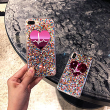 Load image into Gallery viewer, Fashion Bling Glitter Love Heart Phone Case For iPhone