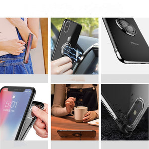 Clear Phone Case Ring Stand Holder for iPhone