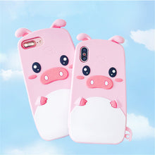 Load image into Gallery viewer, Cute Pink Pig Phone Case