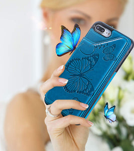 New Luxury Embossing Wallet Cover For iPhone 7Plus&8Plus-Fast Delivery