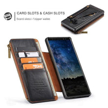 Load image into Gallery viewer, CaseMe Business Zipper Wallet Detachable 2 in 1 Case For Samsung