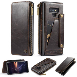 CaseMe Business Zipper Wallet Detachable 2 in 1 Case For Samsung
