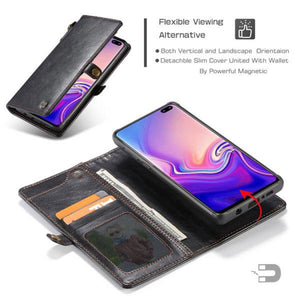 Samsung  Wallet Magnetic Case With Wrist Strap Detachable 2 in 1 Back Cover