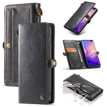 Load image into Gallery viewer, Samsung  Wallet Magnetic Case With Wrist Strap Detachable 2 in 1 Back Cover