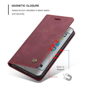 Luxury Retro Wallet Case For iPhone