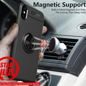 Magnetic Car Holder Soft Silicone Back Cover For iPhone