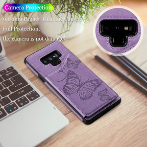 New Luxury Embossing Wallet Cover For SAMSUNG Note 9-Fast Delivery