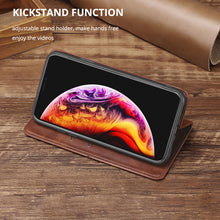 Load image into Gallery viewer, TPU + PU Leather Phone Cover Case for iPhone