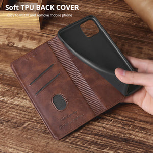 TPU + PU Leather Phone Cover Case for Samsung A11