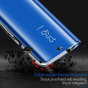 Luxury Mirror Flip Smart Case For Samsung A20