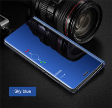 Load image into Gallery viewer, Luxury Mirror Flip Clear Smart Case For HUAWEI