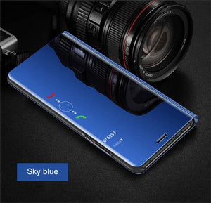Luxury Smart View Mirror Plating Case For HUAWEI