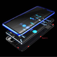 Load image into Gallery viewer, Magnetic Adsorption Transparent  Front+Back double-sided Glass Phone Case For Huawei