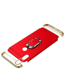 Luxury Ultra-thin 3-in-1 Plating Magnetic Ring Holder iPhone Case With FREE Strap
