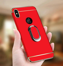 Load image into Gallery viewer, Luxury Ultra-thin 3-in-1 Plating Magnetic Ring Holder iPhone Case With FREE Strap
