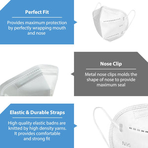 N95 Respirator Mask Reusable, (FDA Registered) Face Mask for at least 95% filtration efficiency against non-oil-based particles and aerosols (6-Pack) - Canopus