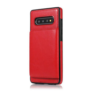 Luxury Leather Silicone Wallet Phone Back Cover For Samsung
