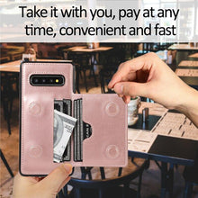 Load image into Gallery viewer, Luxury Leather Silicone Wallet Phone Back Cover For Samsung
