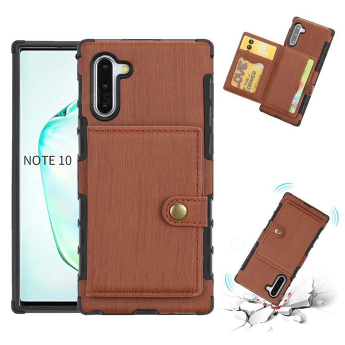 Security Copper Button Protective Case For Samsung Note 10