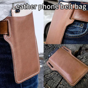 Universal Artificial Leather Men Waterproof Retro Short Cell Phone Case Purse