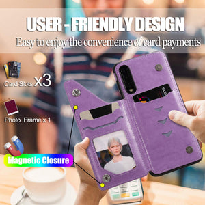 New Luxury Embossing Wallet Cover For SAMSUNG A50/A50S/A30S-Fast Delivery